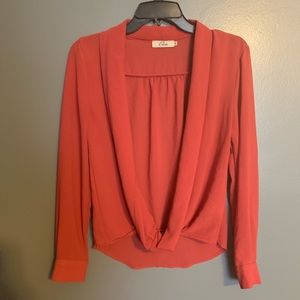Tops - Plunging blouse
